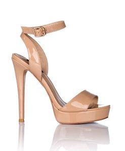 Sandale nude cu platforma Bej - Incaltaminte - Incaltaminte / Sandale