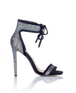 Sandale texturate argintii cu siret Argintiu - Incaltaminte - Incaltaminte / Sandale