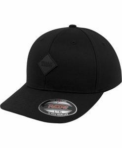 Sepci Flexfit cu accesoriu piele ecologica negru-negru Urban Classics - Caciuli beanie - Urban Classics>Accesorii>Caciuli beanie
