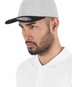 Sepci hip hop Flexfit Double Jersey 2-Tone gri-negru - Sepci Flexfit - Flexfit>Sepci Flexfit