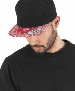 Sepci hip hop Snapback Bandana negru-rosu Flexfit - Sepci snapback - Flexfit>Sepci snapback
