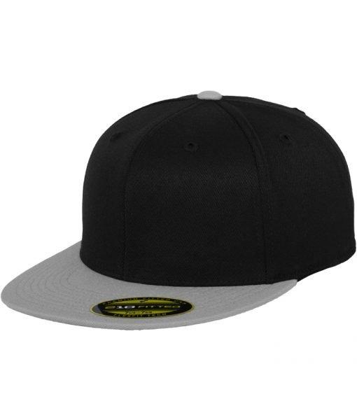 Sepci rap Premium 210 Fitted doua culori negru-gri Flexfit – Sepci 210 FITTED – Flexfit>Sepci 210 FITTED