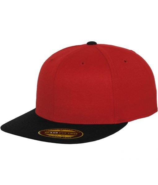 Sepci rap Premium 210 Fitted doua culori rosu-negru Flexfit – Sepci 210 FITTED – Flexfit>Sepci 210 FITTED