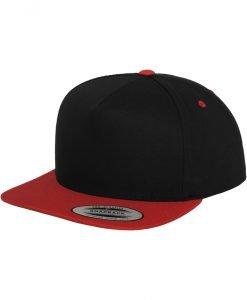 Sepci rap Snapback Classic 5 Panel negru-rosu Flexfit - Sepci snapback - Flexfit>Sepci snapback