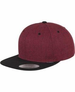 Sepci rap Snapback Melange doua culori rosu-negru Flexfit - Sepci snapback - Flexfit>Sepci snapback