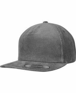 Sepci rap Snapback Premium Corduroy gri Flexfit - Flexfit - Flexfit