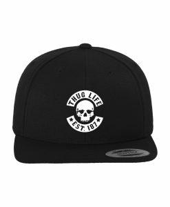 Sepci rap Snapback Thug Life Skull negru - Sepci snapback - Flexfit>Sepci snapback