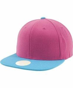 Sepci rap Snapback Two Tone roz-albastru aqua Flexfit - Lichidare - Urban Classics>Lichidare