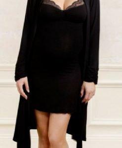 Serenity Neglijee negru - Produse > Haine pentru gravide > Pijamale -