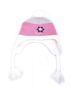 Set caciula cu fular Peppa roz cu alb - Promotii - Lichidare Stoc
