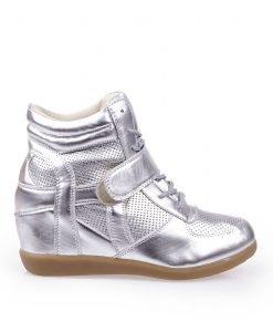 Sneakers dama Angelica argintiu - Promotii - Lichidare Stoc