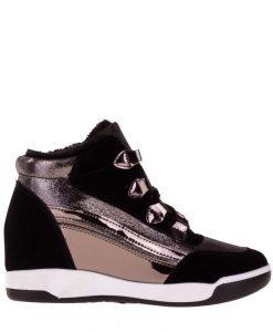 Sneakers dama Cosmina argintiu - Incaltaminte Dama - Sneakers Dama