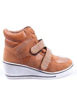 Sneakers dama Hanna 3 camel - Promotii - Lichidare Stoc