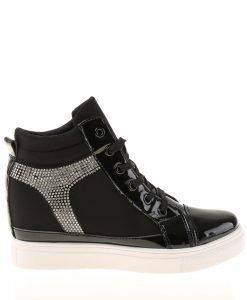 Sneakers dama Hedvige negru - Incaltaminte Dama - Sneakers Dama