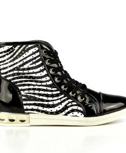 Sneakers dama Helga negru - Promotii - Lichidare Stoc