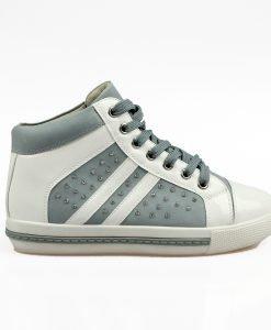 Sneakers dama Ilaria alb cu gri albastrui - Promotii - Lichidare Stoc