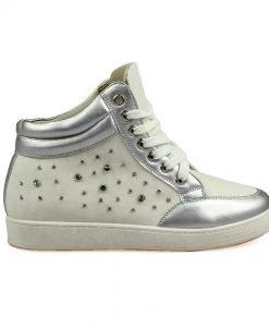 Sneakers dama Ionela alb - Promotii - Lichidare Stoc