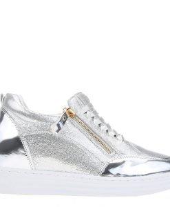 Sneakers dama Julliene argintiu - Incaltaminte Dama - Sneakers Dama