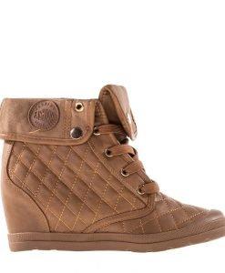 Sneakers dama Kenley khaki - Incaltaminte Dama - Sneakers Dama