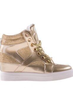 Sneakers dama Lane auriu - Incaltaminte Dama - Sneakers Dama