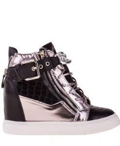 Sneakers dama Laura negru - Incaltaminte Dama - Sneakers Dama