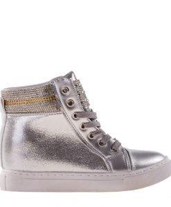 Sneakers dama Mara argintiu - Incaltaminte Dama - Sneakers Dama