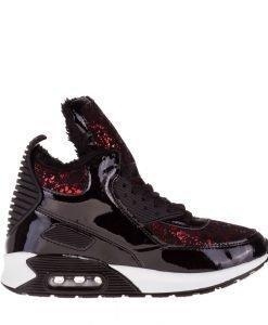 Sneakers dama Sessum negru - Incaltaminte Dama - Sneakers Dama