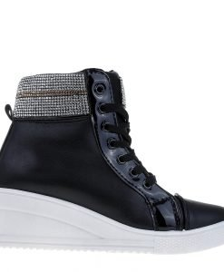 Sneakers dama Vickie negru - Incaltaminte Dama - Sneakers Dama