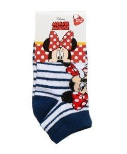 Sosete copii Minnie Mouse albe cu dungi albastre - Aксесоари - Aксесоари Детски