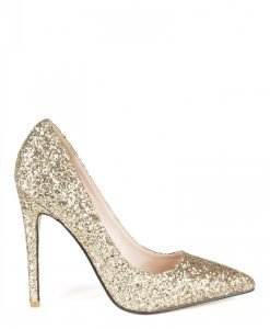 Stiletto cu glitter auriu Auriu - Incaltaminte - Incaltaminte / Pantofi cu toc