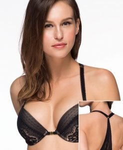 Sutien Valerie Black Push-UP inchidere in fata - Miss - Sutiene Miss