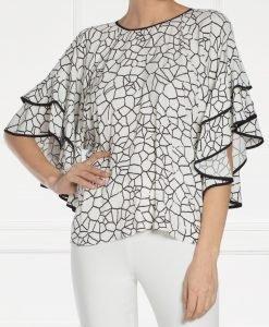 Top alb cu imprimeu geometric Imprimat/Crem - Imbracaminte - Imbracaminte / Topuri