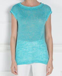 Top din tricot cu maneca scurta Albastru - Imbracaminte - Imbracaminte / Topuri