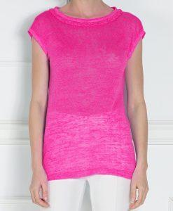 Top din tricot cu maneca scurta Fuchsia - Imbracaminte - Imbracaminte / Topuri