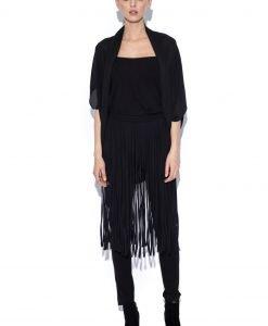 Top din voal negru stil blazer Negru - Imbracaminte - Imbracaminte / Topuri