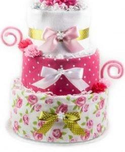 """Tort din Pampers """"Floricele pe câmpii"""" - Produse > Cadouri WoW > Cadouri pentru maternitate/botez -"""