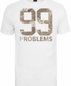 Tricou 99 Problems Desert Camo alb Mister Tee - Tricouri cu mesaje - Mister Tee>Regular>Tricouri cu mesaje