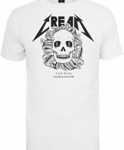 Tricou Cream Skull alb Mister Tee - Tricouri cu mesaje - Mister Tee>Regular>Tricouri cu mesaje