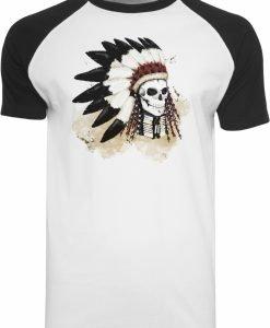 Tricou Dead Indian alb-negru Mister Tee - Tricouri cu mesaje - Mister Tee>Regular>Tricouri cu mesaje
