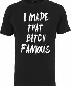 Tricou Famous negru Mister Tee - Tricouri cu mesaje - Mister Tee>Regular>Tricouri cu mesaje