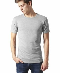 Tricou Fitted Stretch gri Urban Classics - Tricouri urban - Urban Classics>Barbati>Tricouri urban