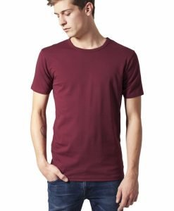 Tricou Fitted Stretch rosu burgundy Urban Classics - Tricouri urban - Urban Classics>Barbati>Tricouri urban