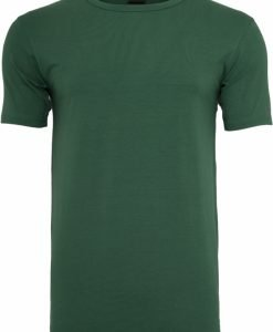 Tricou Fitted Stretch verde Urban Classics - Tricouri urban - Urban Classics>Barbati>Tricouri urban