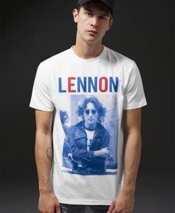 Tricou John Lennon Bluered alb Merchcode - Tricouri cu trupe - Mister Tee>Trupe>Tricouri cu trupe