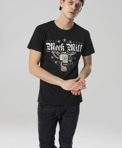 Tricou Meek Mill Mill Chains negru Merchcode - Tricouri cu trupe - Mister Tee>Trupe>Tricouri cu trupe
