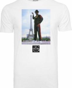 Tricou Run DMC Paris alb Mister Tee - Tricouri cu trupe - Mister Tee>Trupe>Tricouri cu trupe