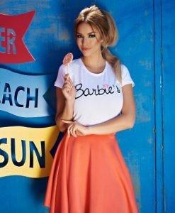 Tricou StarShinerS Brodat Sugar Babe Sunway White - Tricouri -