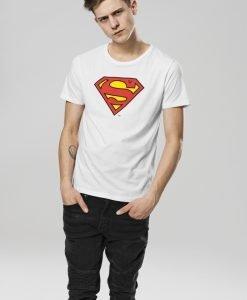 Tricou Superman Logo alb Merchcode - Tricouri cu trupe - Mister Tee>Trupe>Tricouri cu trupe