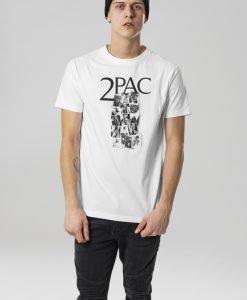Tricou Tupac Collage alb Mister Tee - Tricouri cu trupe - Mister Tee>Trupe>Tricouri cu trupe
