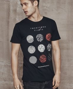 Tricou Twenty One Pilots Pattern Circles negru Merchcode - Tricouri cu trupe - Mister Tee>Trupe>Tricouri cu trupe